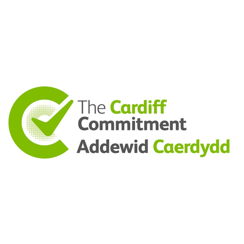 Cardiff Commitment logo with green tick